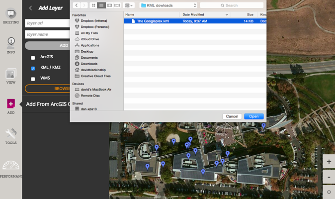 Add Map Layers or Google Earth Layers of Your Own to the SITUATIONANALYST map