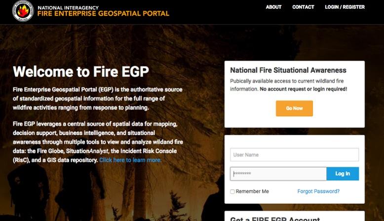 Fire Enterprise Geospatial Portal (EGP)