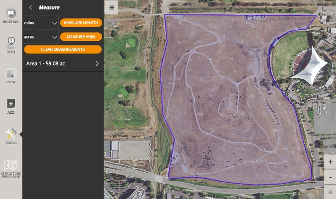 Quickly Calculate Acreage or Distance with Measuring Tools